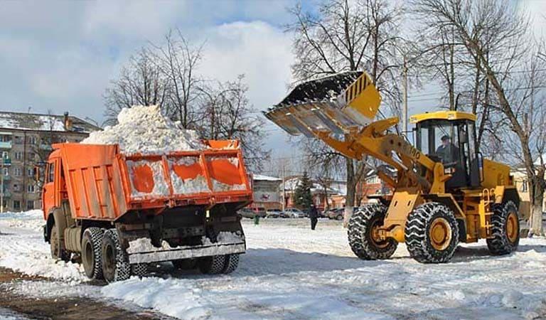 Уборка снега с вывозом